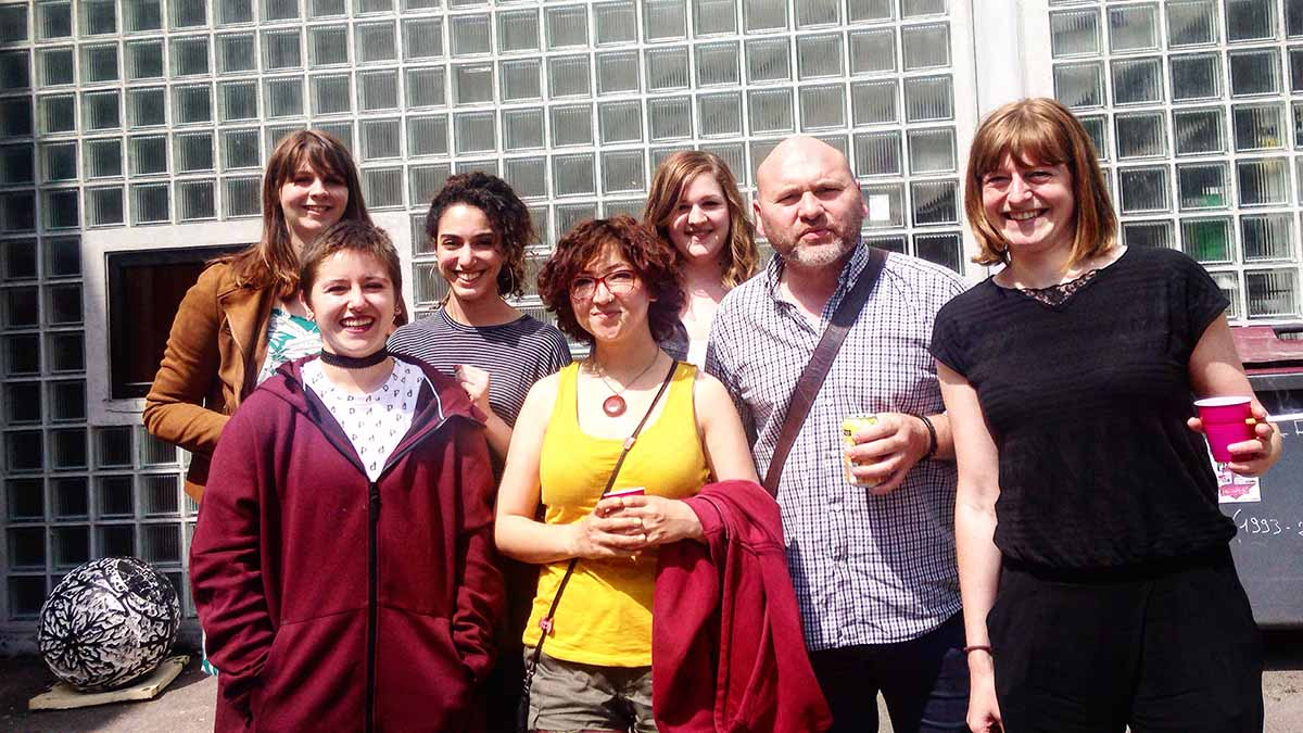Kubra et les etudiantes de l'ESA